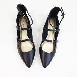 Christian Siriano Payless Black Strappy Flats